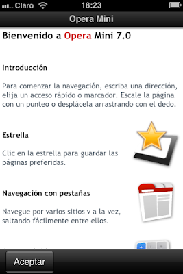 Descarga Opera Mini para iPhone