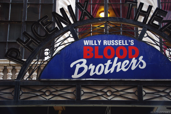 aliciasivert, alicia sivertsson, london, england, Blood Brothers, musical, phoenix theatre, musikal, teater