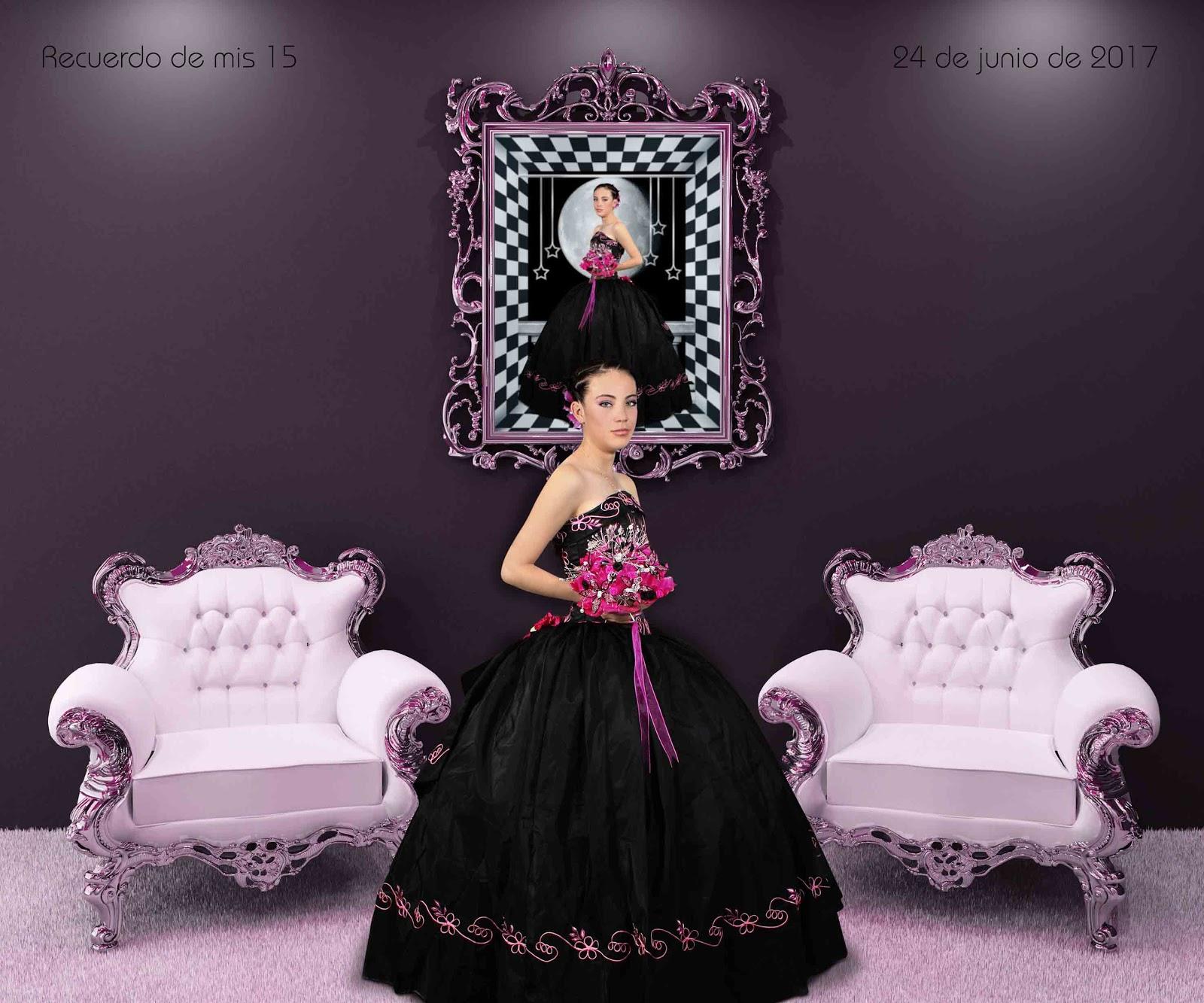Plantillas para Photoshop.: Fondo de fantasía para quinceañeras