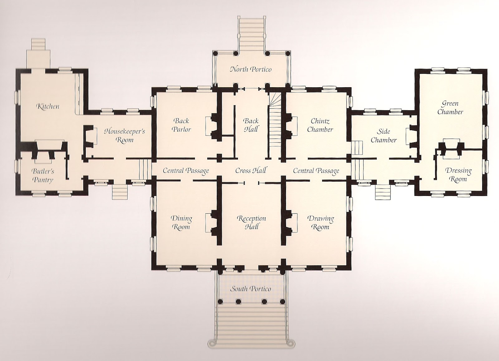 The Main Floor Plan Of Homewood Image From Homewood House