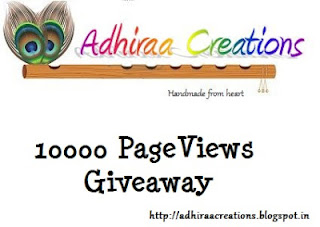 Give Away from Adhiraa Creations