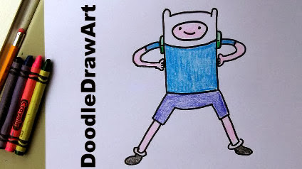 Learn how to draw Finn the Human from AdventureTime!