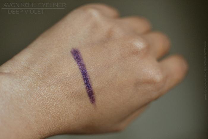 Avon Kohl Eyeliner Pencil Deep Violet Profond Indian Darker Skin Makeup beauty Blog Photos Review Swatch FOTD