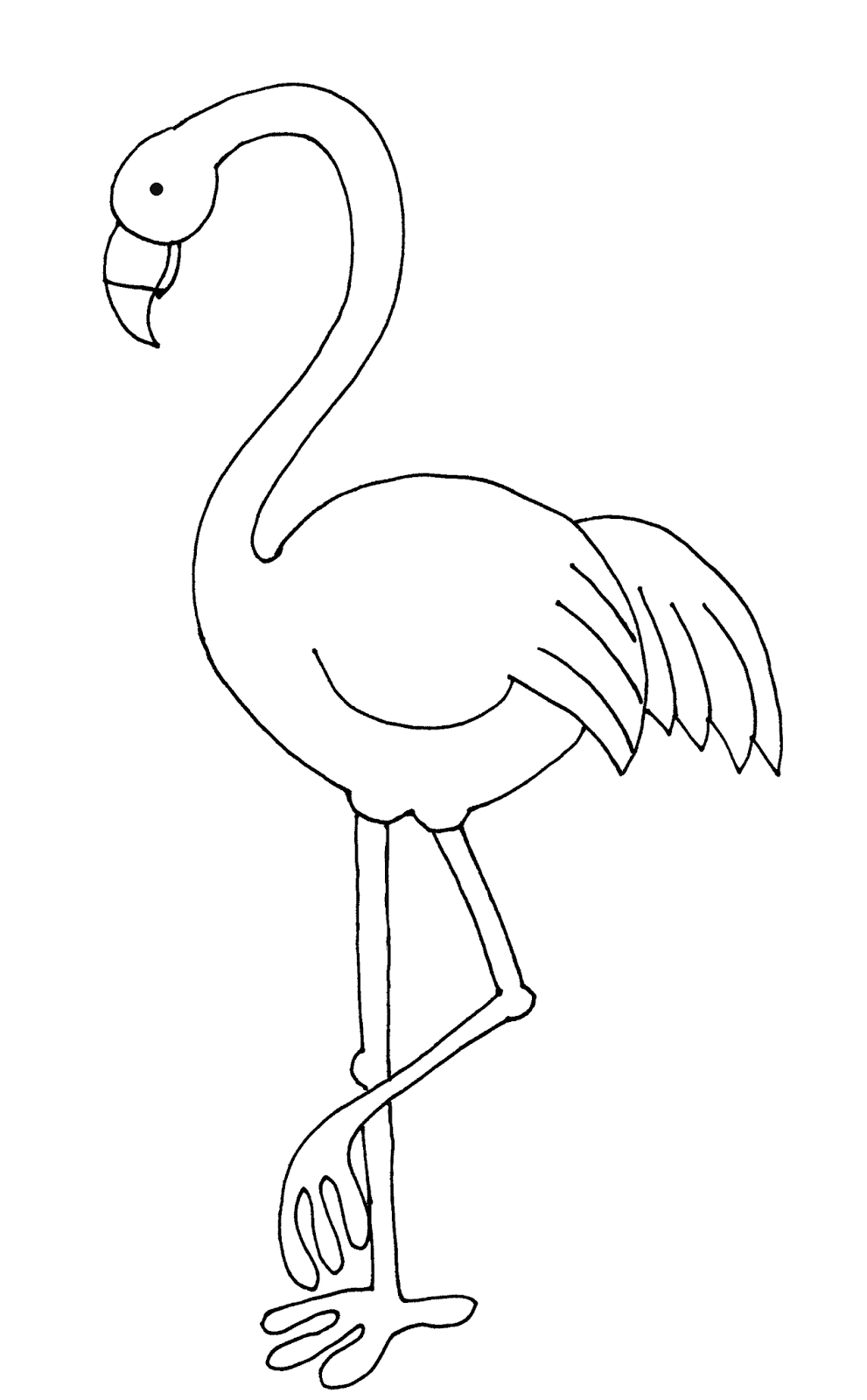 Peaceful image throughout printable flamingo template