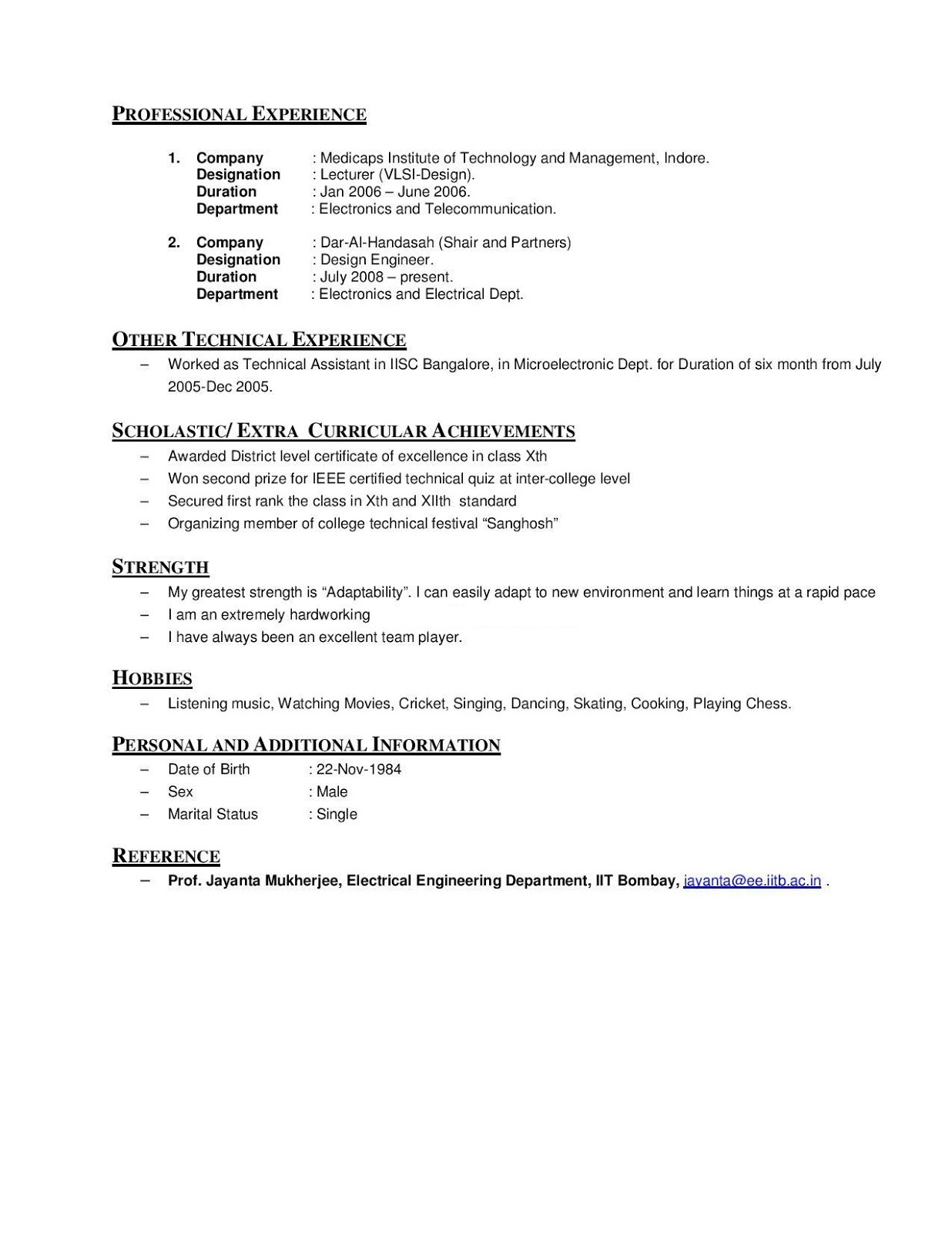 Resume help hobbies and interests