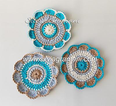 Coasters, Porta Copos em Crochê
