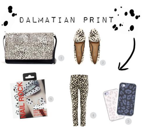 Dalmatian Print Spot Cruella de Vil Trend Polka Dots