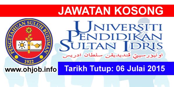 Jawatan Kerja Kosong Universiti Pendidikan Sultan Idris (UPSI) logo www.ohjob.info julai 2015
