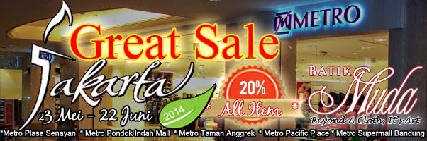 jakarta great sale batik tulis  2014