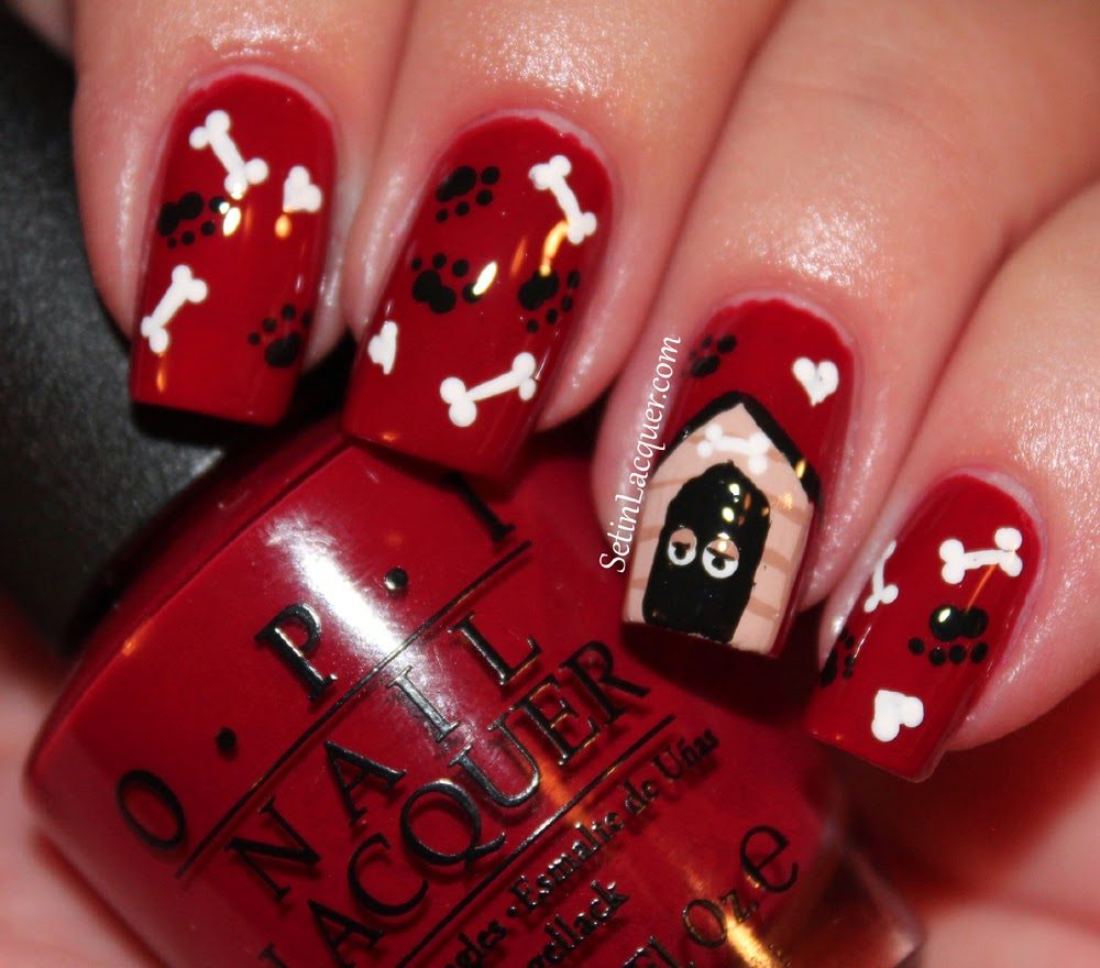 Puppy Love nail art - Set in Lacquer