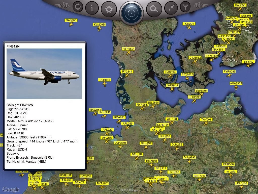 Get real radar on your computer and see planes flying anywhere in the world, flightradar24