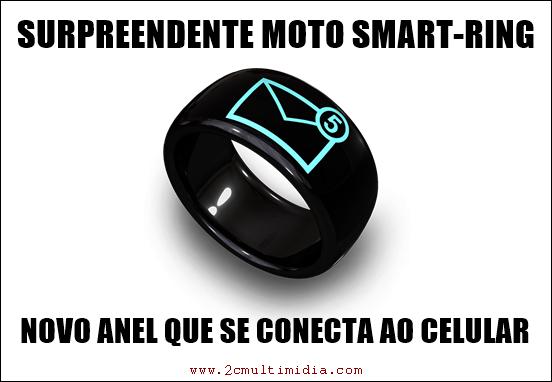 anel inteligente que se conecta ao celular