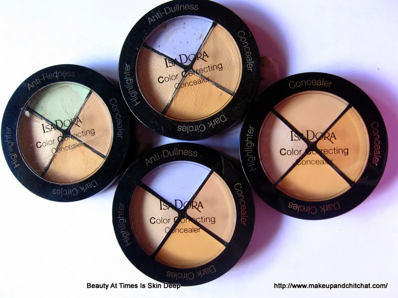 Review of Isadora Cosmetics Color Correcting wheels