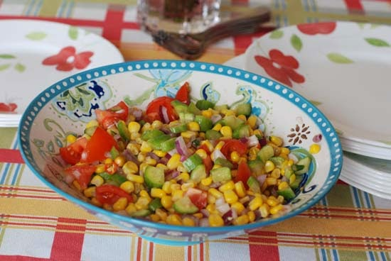 Corn Chaat Quick and Easy