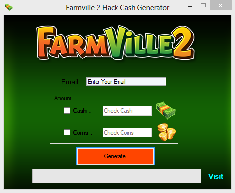 Facebook Tools Cheats & App Generators: Farmville 2 Hack Cash Tool