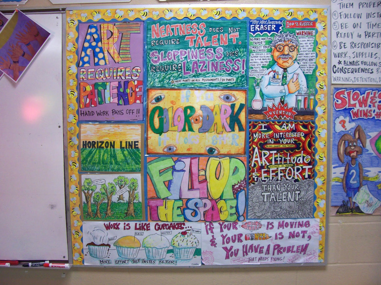 Art ed posters bulletin board ideas on pinterest for Good decorations for your room