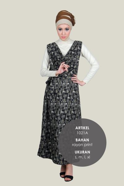 Model Baju rayon print Cantik Murah Terbaru 1021A