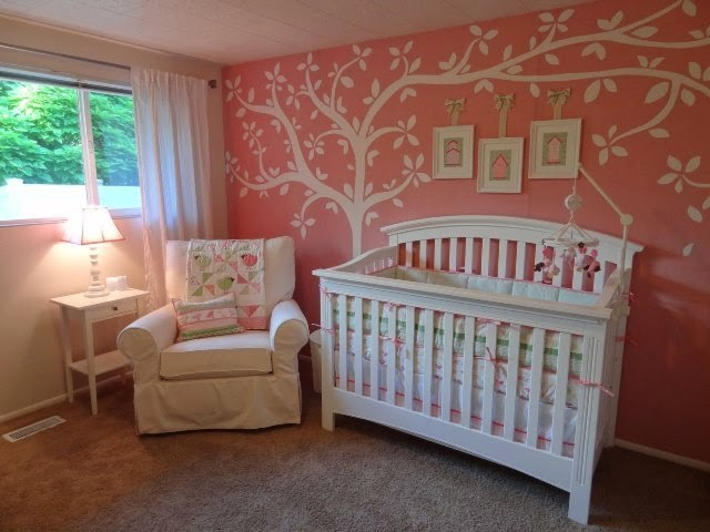 Baby nursery wall paint color ideas for Baby wall mural ideas