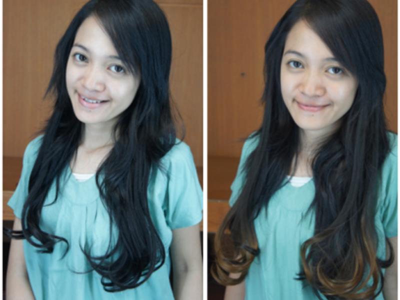 Oil treatment for dry hair