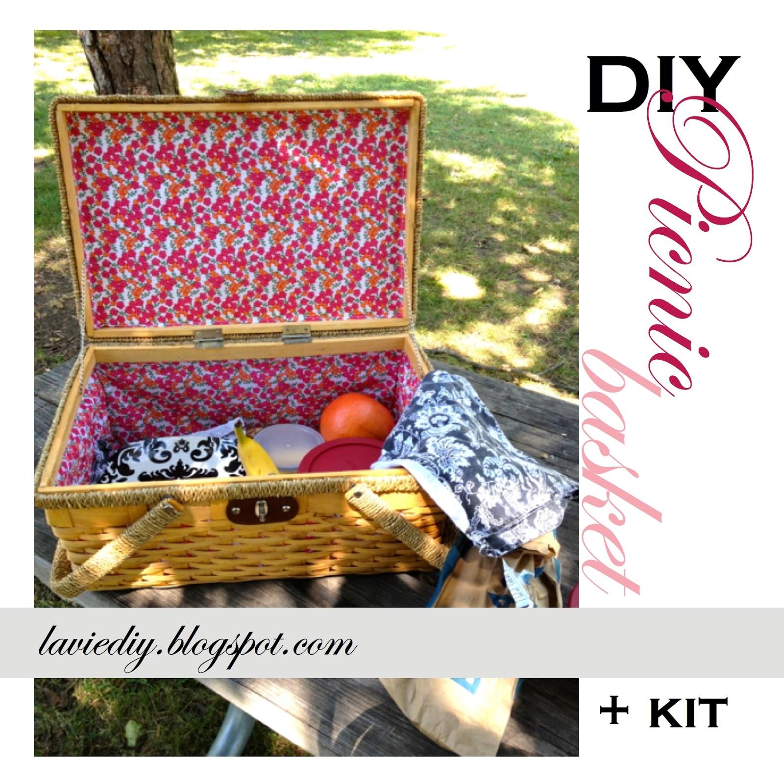 Picnic Basket Kit : La vie diy picnic basket kit