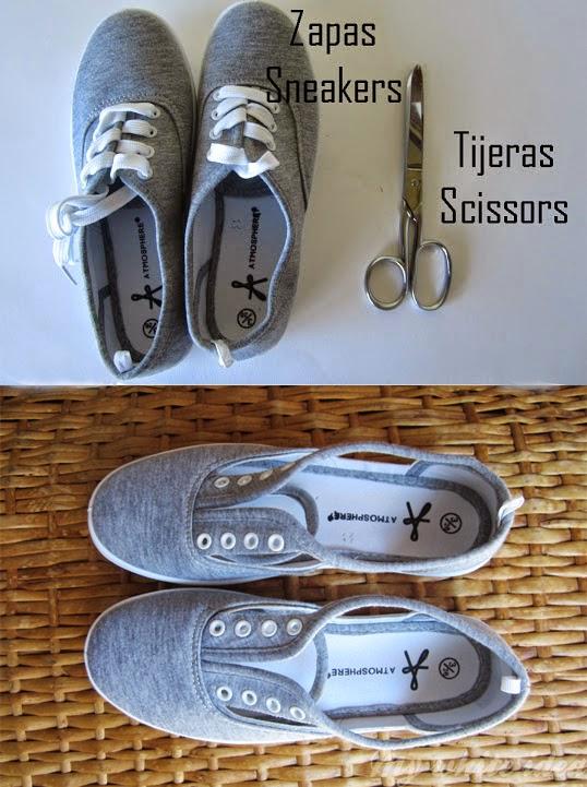 ซ่อม ดัดแปลง เปลี่ยนแปลงโฉม รองเท้าผ้าใบเก่า