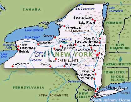 New York State Map Outline