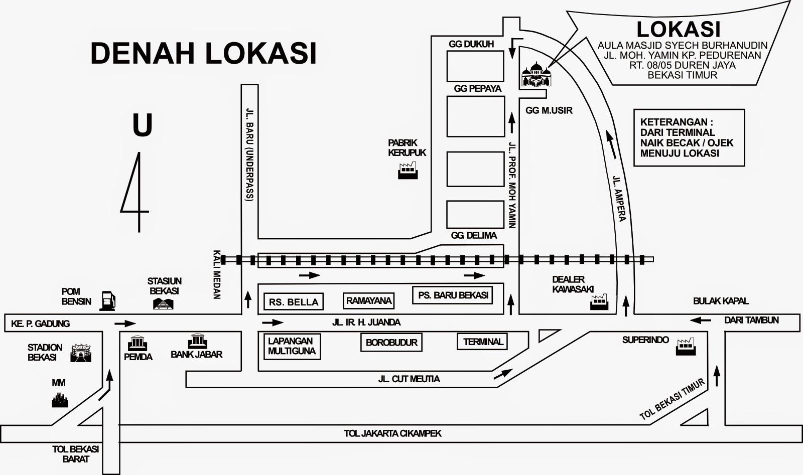 Denah Kp Pedurenan Duren Jaya Bekasi Timur