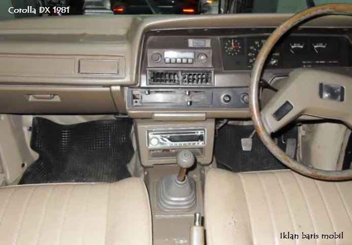 Dijual - Toyota lawas Corolla DX 1981, Iklan baris mobil corolla