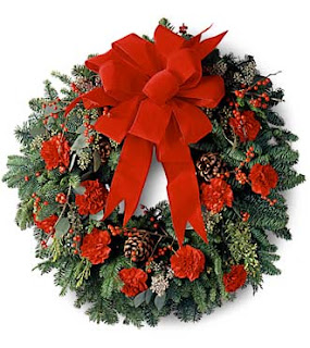 Christmas Flower Wreath Images