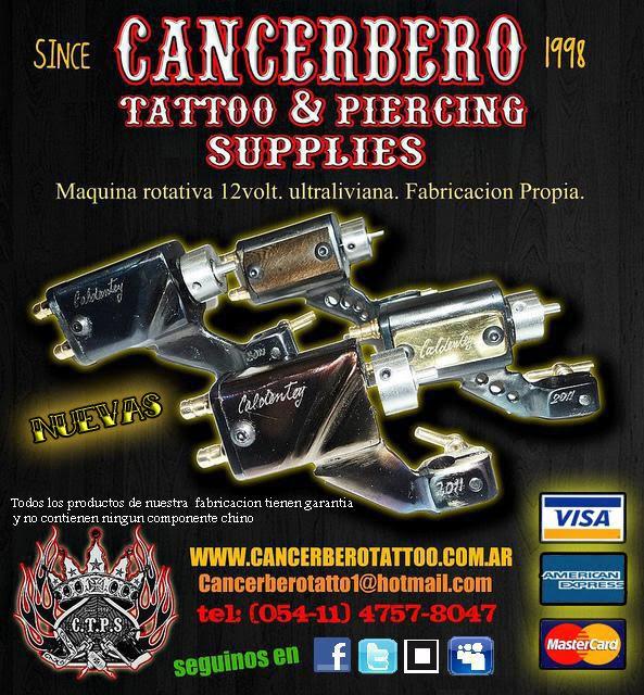 Cancerbero tattoo piercing supplies nuevas maquinas for Tattoo supply los angeles