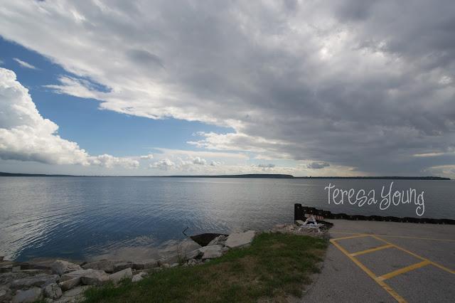 Sturgeon Bay Door County Wisconsin weather storm boat launch