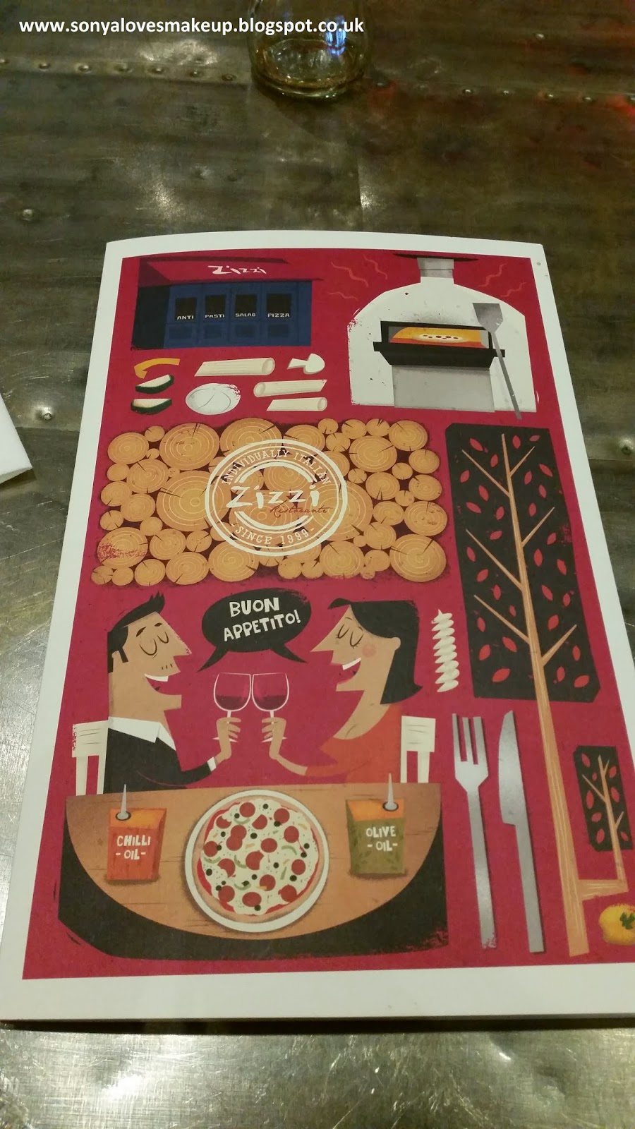 Zizzi Ristorante, Italian food, Romford, Essex
