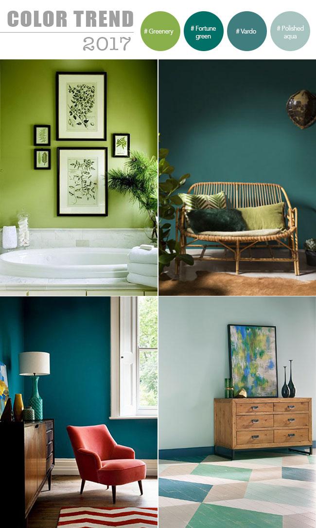 tendenze interior design i colori top nel 2017 la gatta