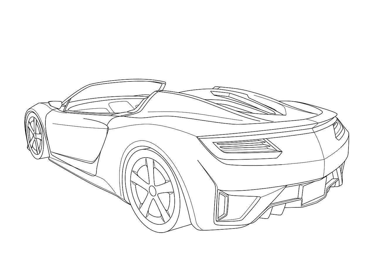 concept car drawings coloring pages
