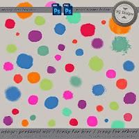 http://cesstrelle.wordpress.com/2014/10/23/freebie-messy-dots-brushes/