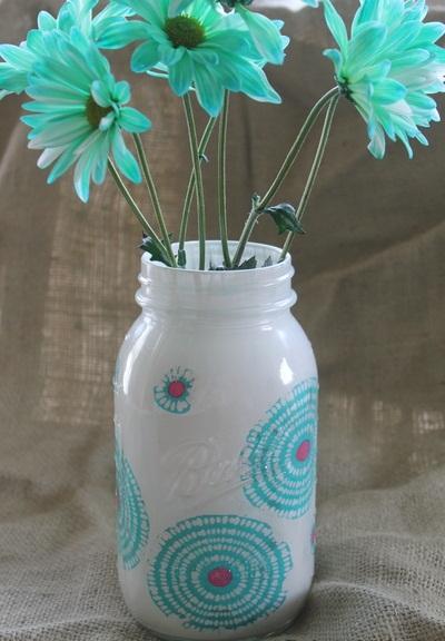Decorar jarrones de vidrio portal de manualidades for Jarrones de vidrio decorados