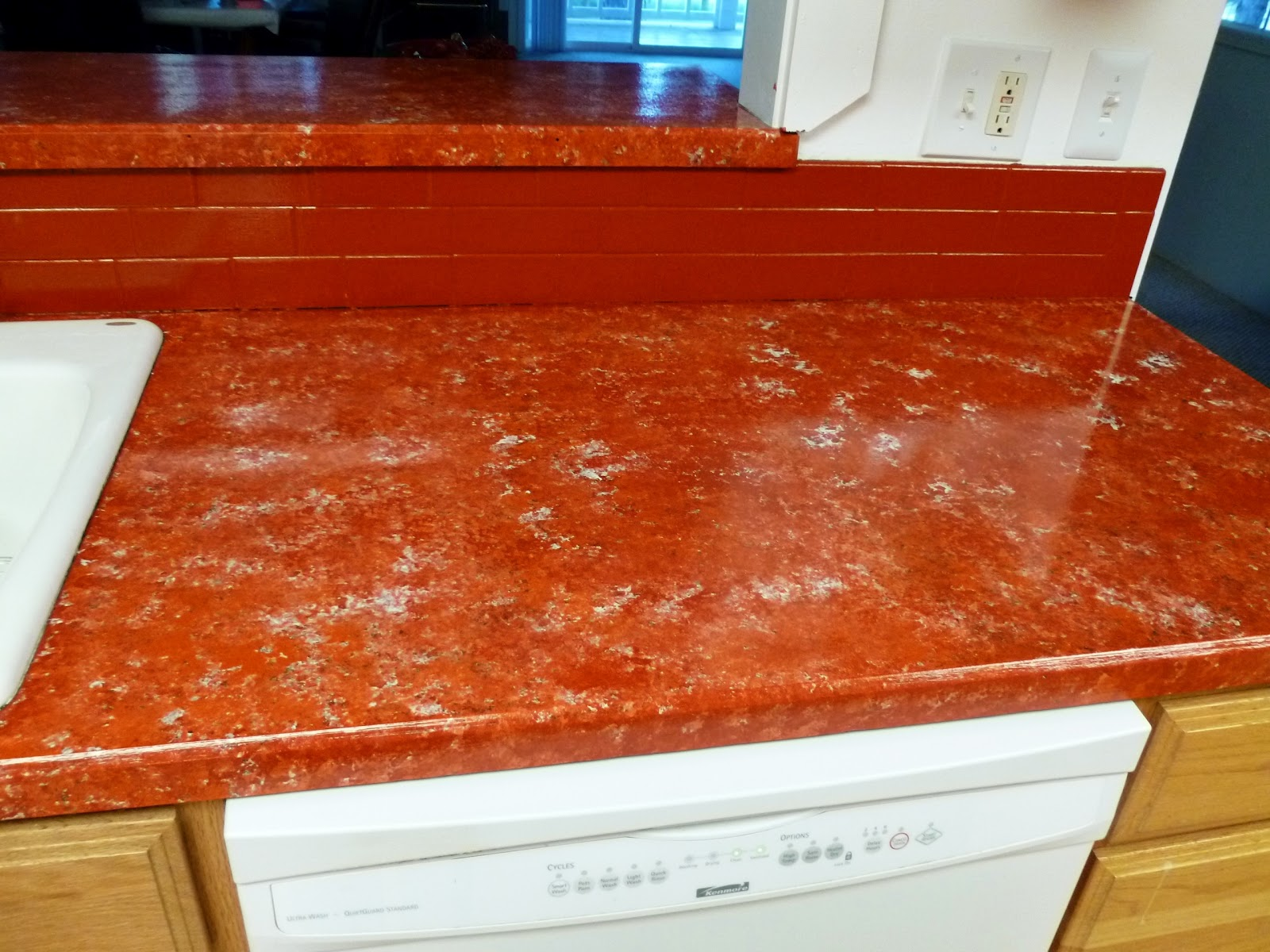 Giani Countertop Paint On Tile : after painting my countertops with Giani countertop paint...