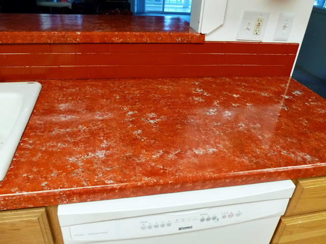 Countertop Paint Red : after painting my countertops with Giani countertop paint...