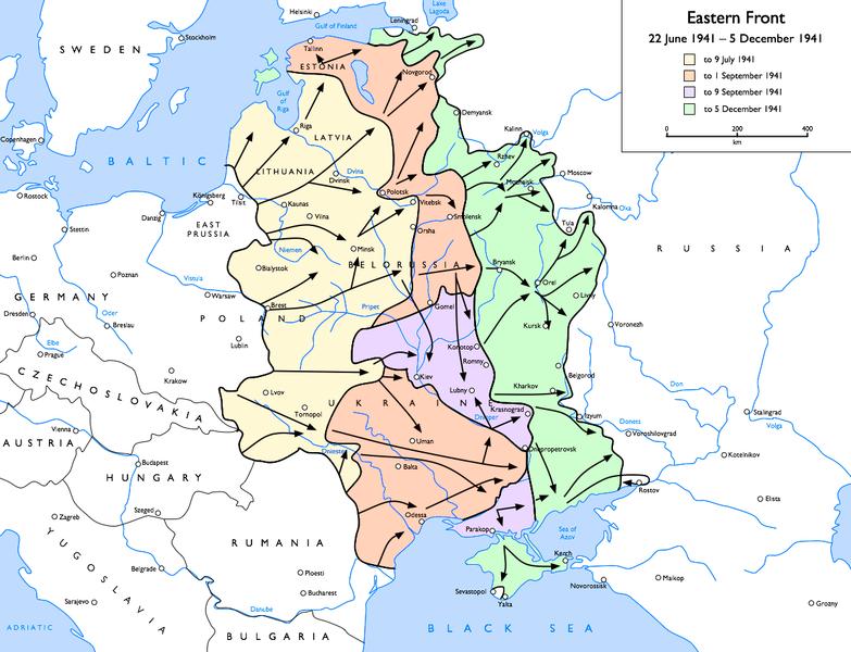 Carte front est 1941