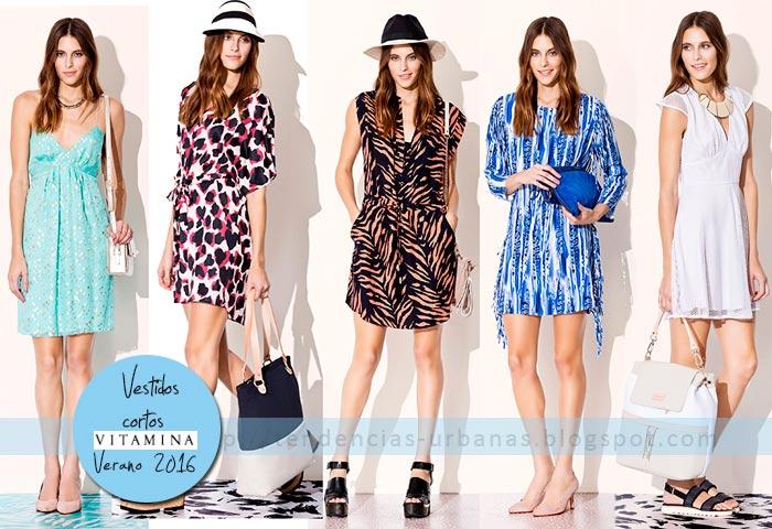 vestidos cortos moda verano 2016 Vitamina
