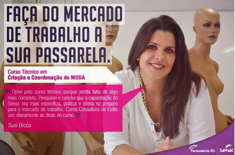 Campanha publicitária SENAC Moda.