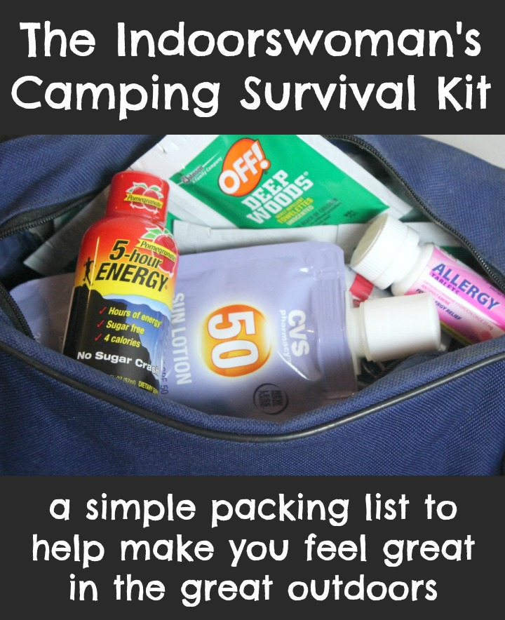 The Indoorswoman's Camping Survival Kit with 5-hour ENERGY® Five Hour Energy  #ThisIsMySecret #CollectiveBias #cbias #5HourEnergy