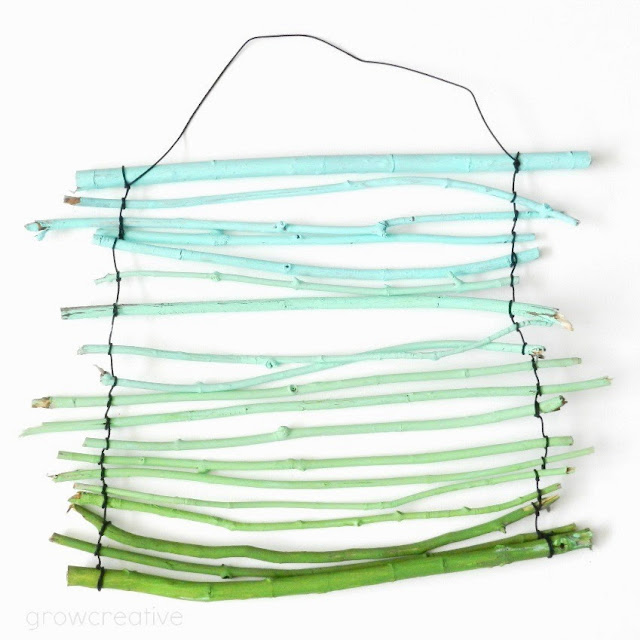 Ombre Twig Wall Hanging Tutorial