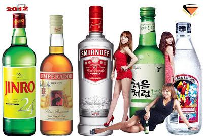 10 bebidas con alcohol mas vendidas del mundo 2012