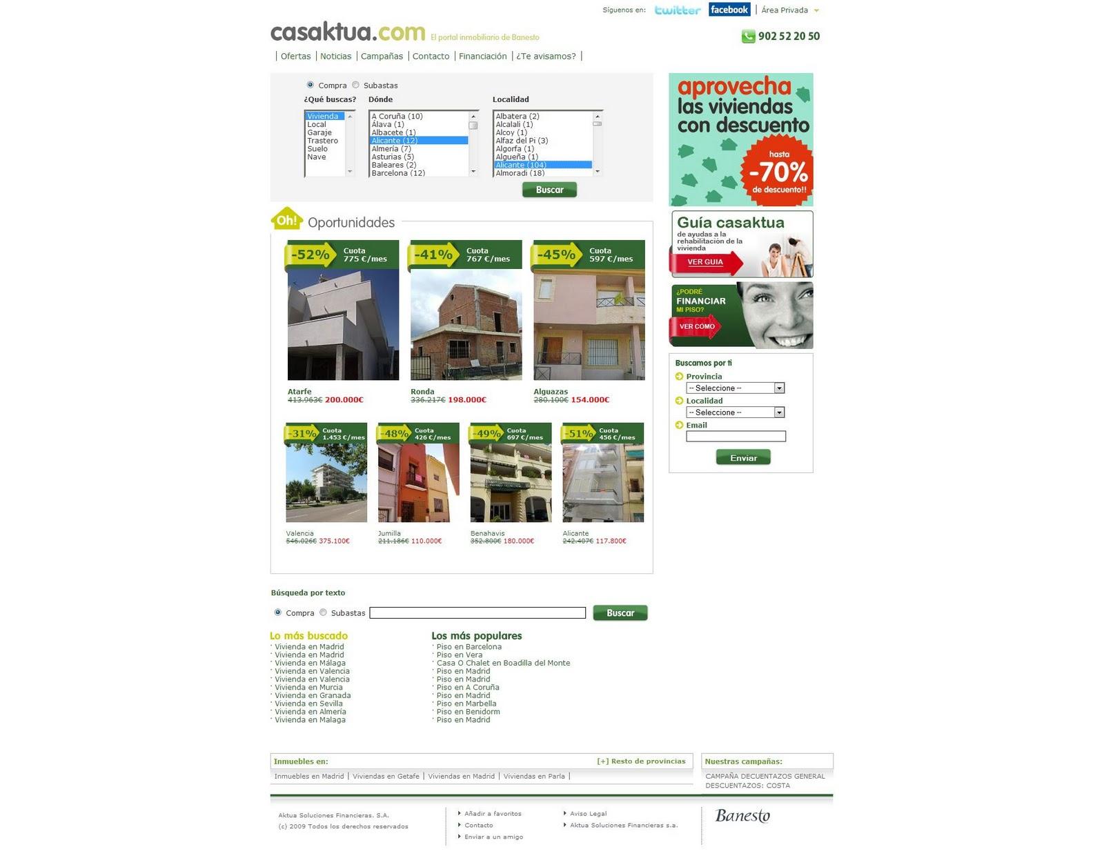 Casaktua el portal inmobiliario de for El portal inmobiliaria