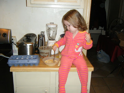 Sasha Stirring Eggs