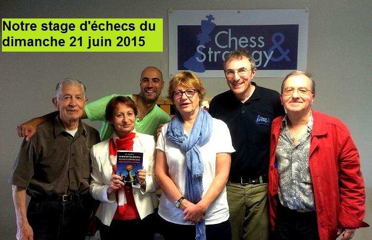 Quelques participants au stage échecs