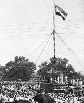 indian flag on 15 august 1947