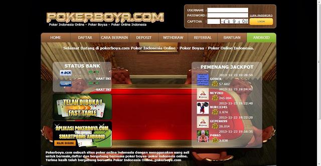 Daftar judi poker online uang asli pokerboya