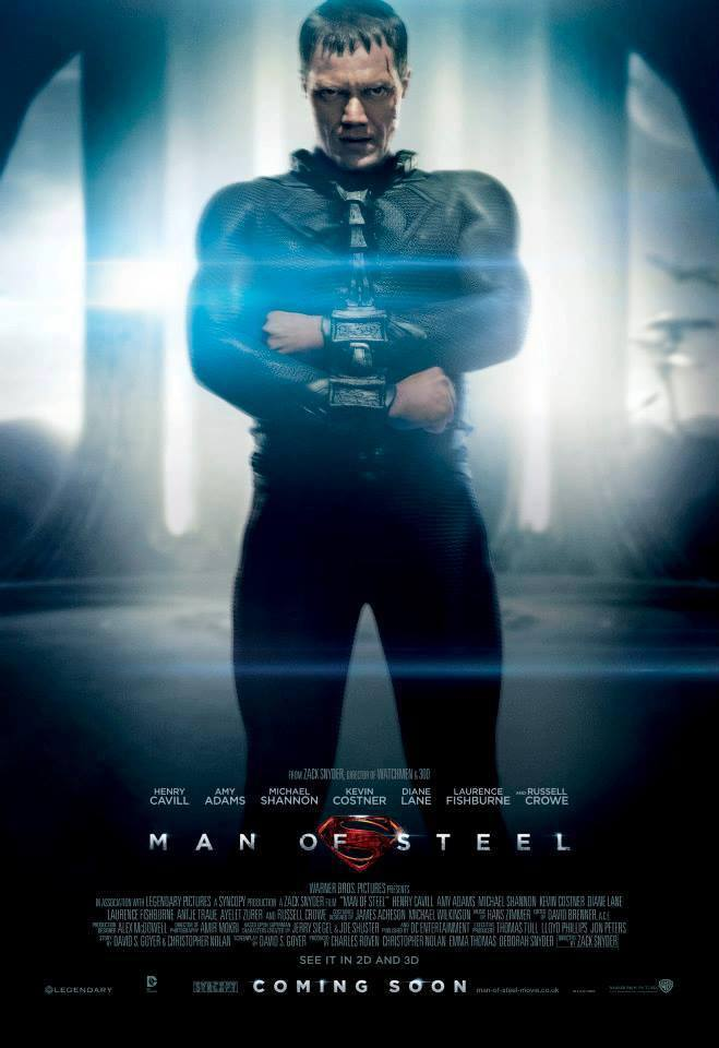 General Zod Man of Steel Character Poster